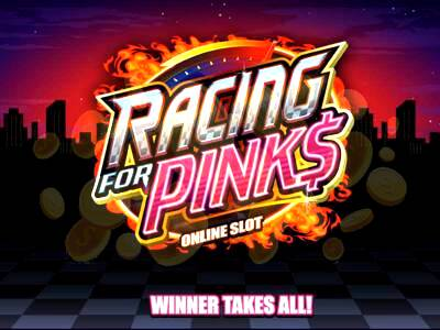 Top Slot Game of the Month: Racing for Pinks Slot Logo