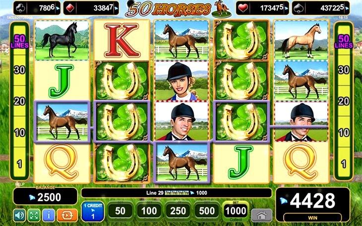 50 Horses Slot Machine