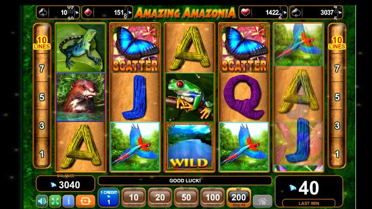 Amazing Amazonia Slot Machine