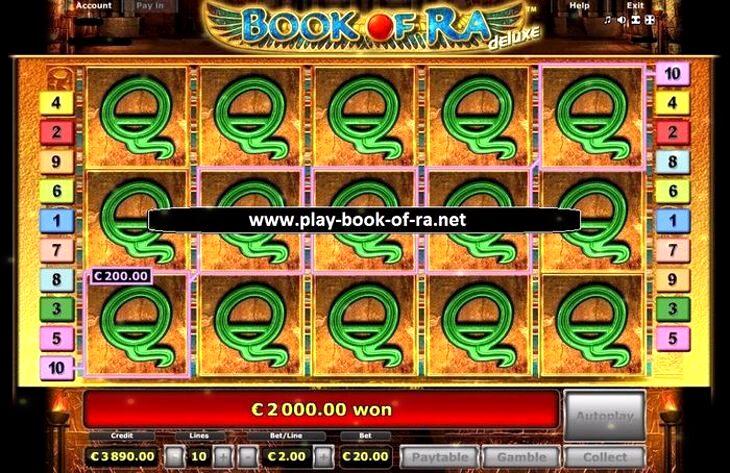 Book Ra Game Slot Machine
