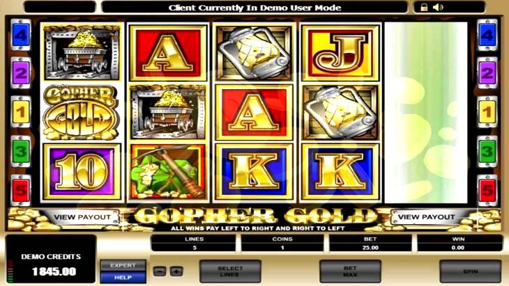 Gopher Gold Slot Machine