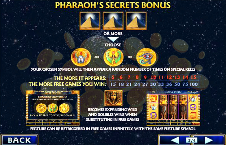 Discover The PharaohS Secrets Slot With No Download