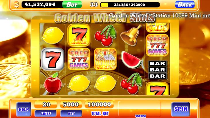 777 Golden Wheel Slot Machine