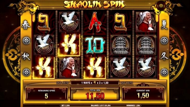 Shaolin Spin Slot Machine