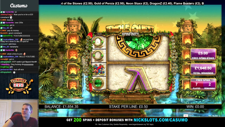 Temple Quest Spinfinity Slot Machine