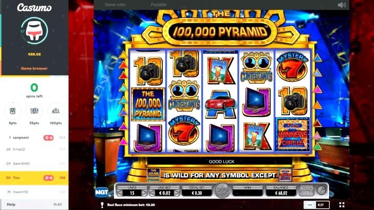50,000 Pyramid Slot Machine