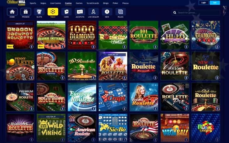 William Hill Casino Bonuses